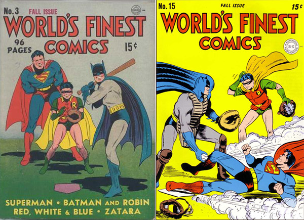 One day when they delivered the books I had requested,  several old comic appeared. These two were my favorites. Just the thought of Superman crushing it and flying around the bases - literally - made me smile. But then something about baseball began to bring back memories.