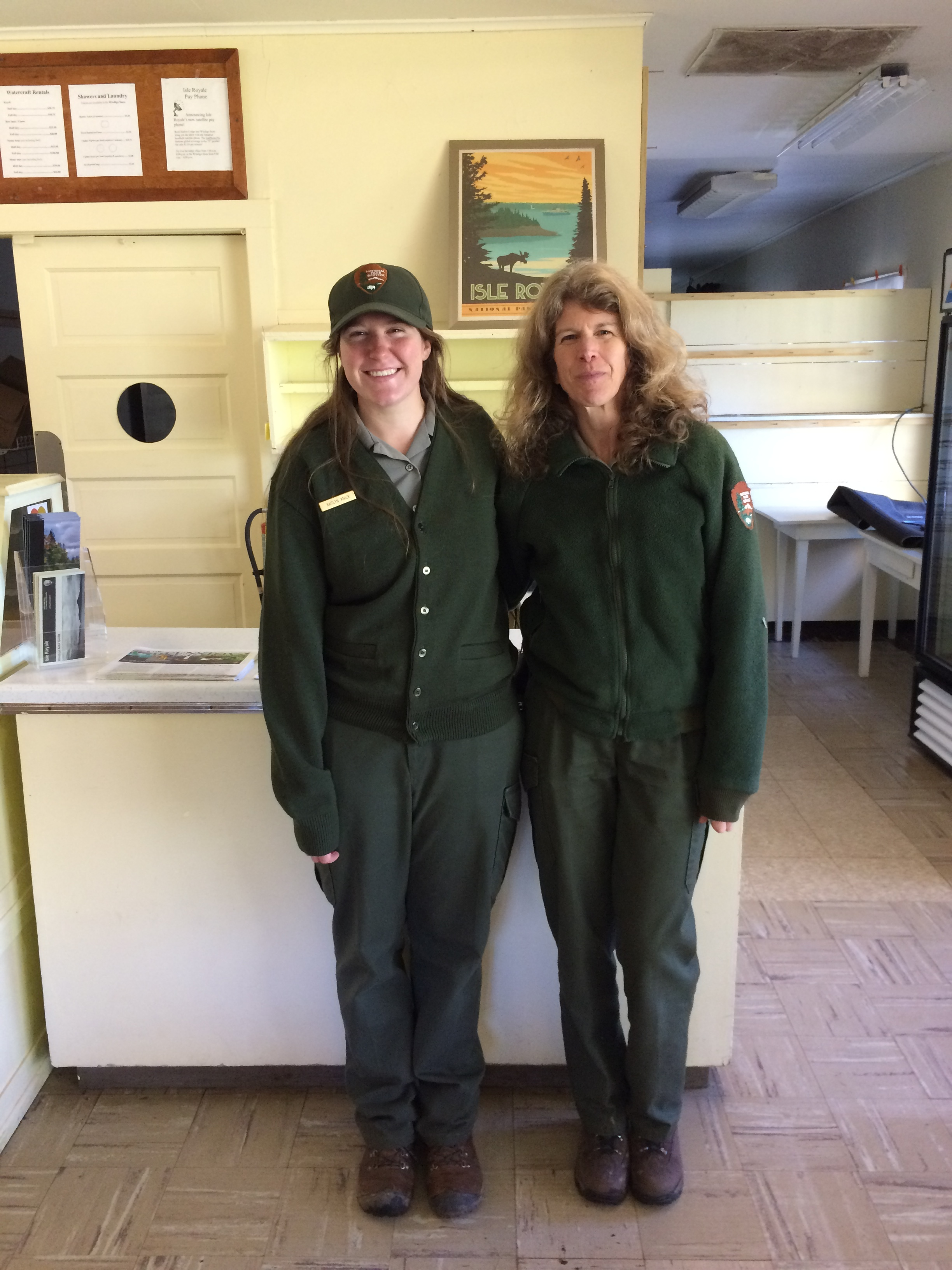 Isle Royale National Park Rangers Valerie and Kaitlyn. Thank you for sharing your stories and ideas. I hope to see you again.
