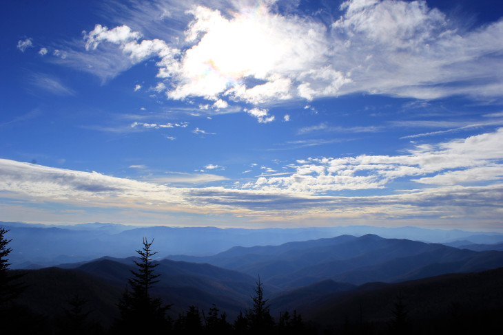 VIEW FROM CLINGMANS DOME. IF THERE WAS AN ACCOMPANYING SOUNDTRACK TO THIS PHOTO, IT WOULD BE ME DROPPING TO MY BONY KNEES AND GIVING THANKS.