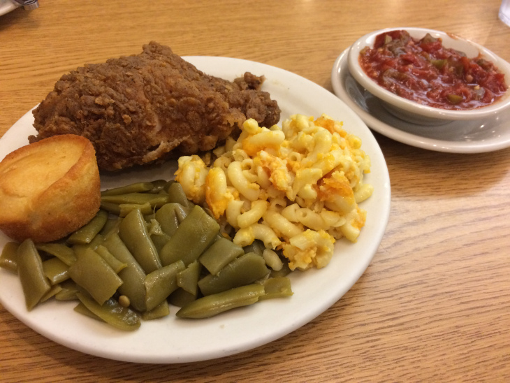 YOU DIDN'T THINK I WAS GOING TO DRIVE THROUGH SOUTH CAROLINA WITHOUT A MEAL LIKE THIS DID YOU? THANK YOU TO THE VOLUNTEER AT THE CONGAREE VISITORS CENTER WHO RECOMMENDED LIZARD THICKET. I APOLOGIZE TO ALL WHO WERE OFFENDED WHEN AFTER DINNER I UNDID MY BELT AND TOOK A NAP.