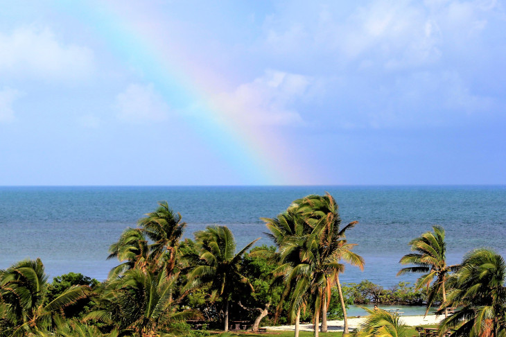 THE EASTERN EDGE OF BOCA CHITA KEY.  A SERIES OF STORM CLOUDS BRUSHED UP AGAINST US, BUT NEVER OPENED.  YET SOMEHOW A RAINBOW APPEARED. COINCIDENCE? I THINK NOT MY FRIEND.