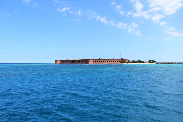 IT IS IMPOSSIBLE TO SEE FORT JEFFERSON ON THIS SPIT OF LAND SEVENTY MILES FROM CIVILIZATION AND NOT BE HUMBLED BY THE DETERMINATION, LABOR AND SKILL REQUIRED TO CONSTRUCT. IN CONTRAST, I LOST ABOUT 60% OF MY LEGO'S WITHIN THE FIRST TWO DAYS.
