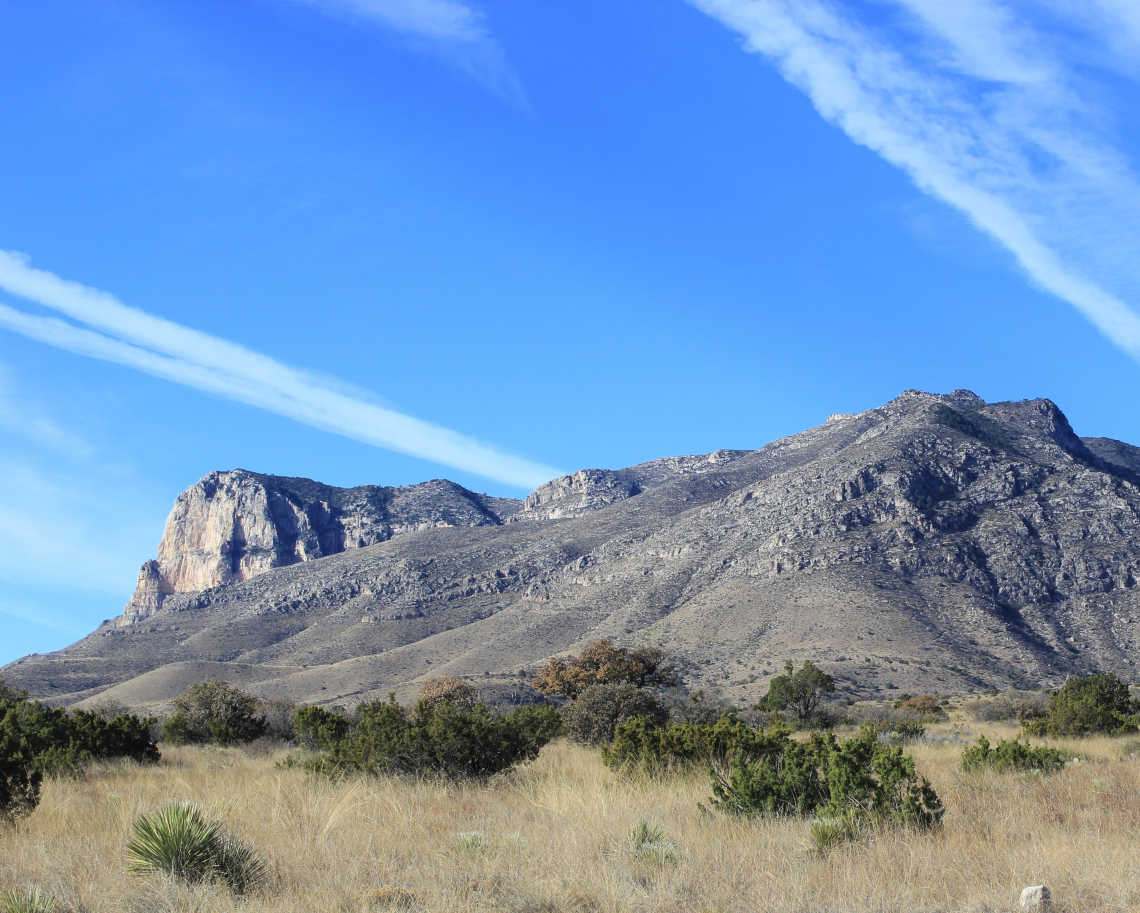El Capitan from the northeast. A massive wall looming over the desert.