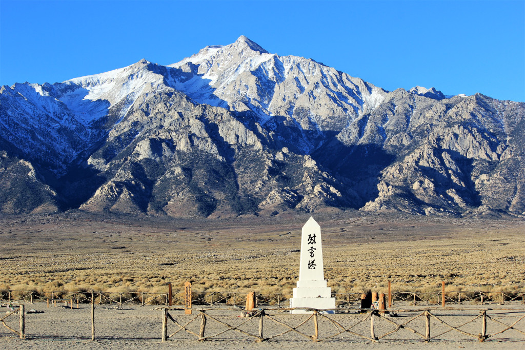 Just north of Lone Pine is Manzanar Internment Camp where thousands of Japanese Americans were held during WWII. It is a sacred place. You can only imagine the depth of sadness witnessed here.