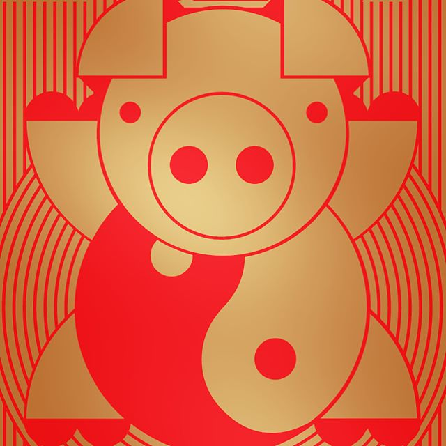 HAPPY LUNAR NEW YEAR! 🐷🎉🌝 I love this holiday, which includes one of the few Chinese traditions I try to keep 🧧🤑🧧but this year, I decided to make my own version of the red envelope that is not about money inside 💸 it's just about wishing you and yours good luck and prosperity in the upcoming year 🐽 I will mail these out at the end of the week, DM me with your address if you want one! ❤️