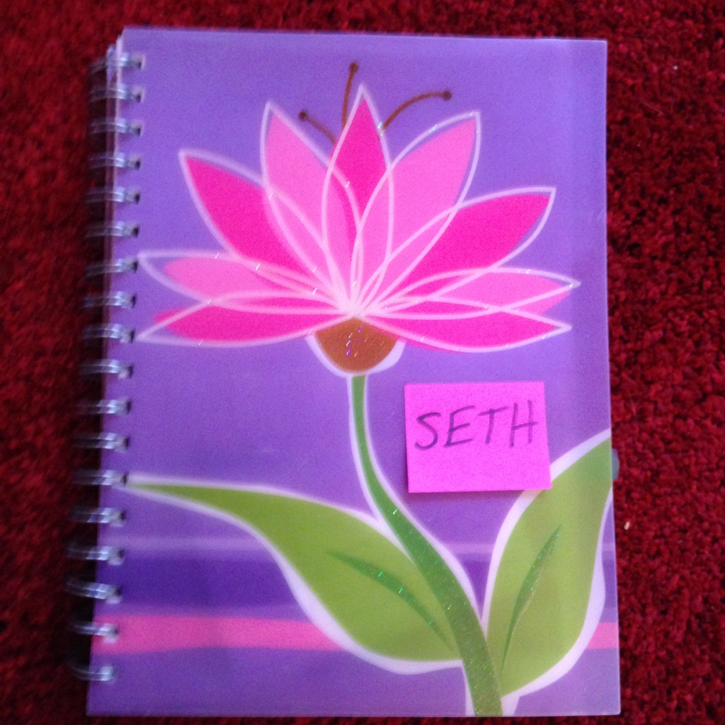 My character journal for Seth. I wrote down the first idea for him in 2005!