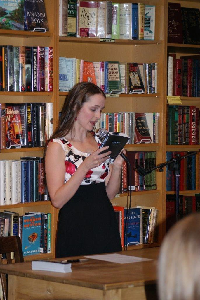 My Freefall launch party--my first official author event!