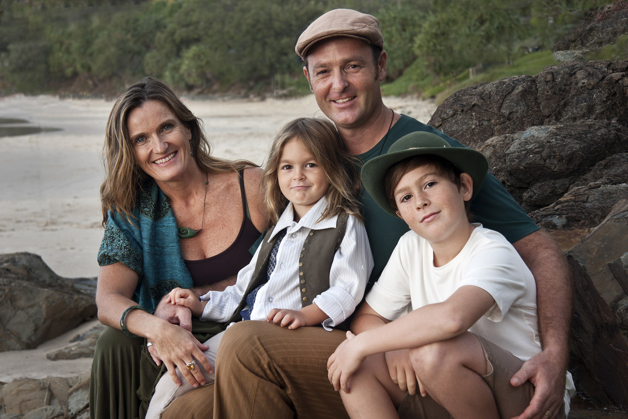 """""""Our afternoon with Gretchen at Wategos beach was so much fun! Gretchen's easy non-invasive direction worked magic. It was the perfect way to capture a moment in time that will be treasured for lifetimes. We completely recommend Gretchen Hambly Photography for your next family shots or special vacation photos when visiting Byron Bay."""" Leone, Byron Bay"""