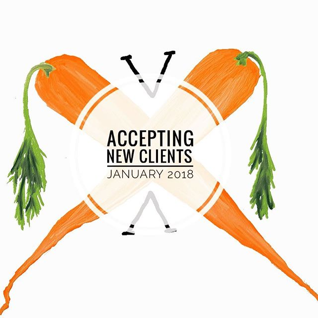 My friends, I'm accepting new clients for Nutrition and Wellness Coaching in 2018! If you're looking to make changes to your diet and overall health, the new year is a perfect time to start! Avoid crash diets and over-spending on meal delivery services! Schedule an initial consultation with me to get started!  I have other services available as well (grocery store 'tours,' in-home cooking lessons, kitchen refresh, etc.). See my website for details and pricing! **These services make great Christmas gifts for family and friends interested in making healthy lifestyle changes!** A little more information about my initial consultation: We will discuss your nutrition/health goals and some basic strategies to get started! Of course we will talk about implementing more plant-based foods into your diet, but you do not have to be interested in 'being vegan/vegetarian' to benefit from my nutrition services! I'm also not affiliated with ANY larger companies or supplement products -- i.e. I will never try to sell you any supplements/vitamins/miracle cures. We'll simply talk about REAL ways to eat more REAL food.  Please send me a private message if interested OR fill out the 'Work with Alyssa' form on my website! Share with your friends! I have a limited number of spots available beginning January 1st so don't delay ✌️🥕