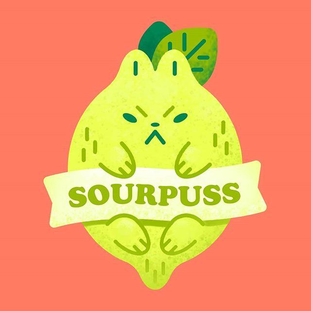 🍋💦 . . . #sourpuss #puns #lemon #cat #cats #art #graphicdesign #vectorart #sour #digitalart #artistsoninstagram