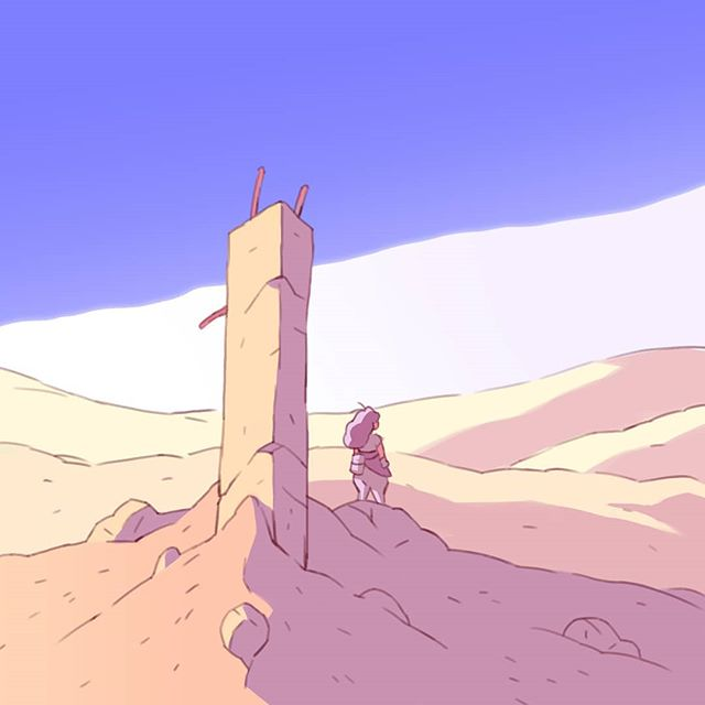 Spent some time learning and practicing from @cosimogalluzzi 's work this morning. Currently obsessed with what can be done with only simple flat colors and lines 🙌 . . . #art #illustration #digitalart #artistsoninstagram #drawing #desert #postapocalyptic #comics