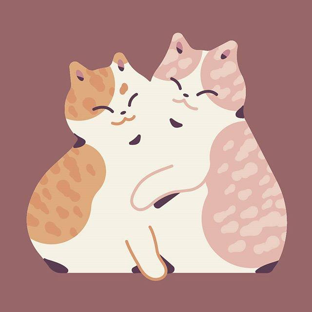 Squish 🐈 . . . #cats #cat #artistsoninstagram #art #vector #vectorart #digitalart #cute #squishy #soft