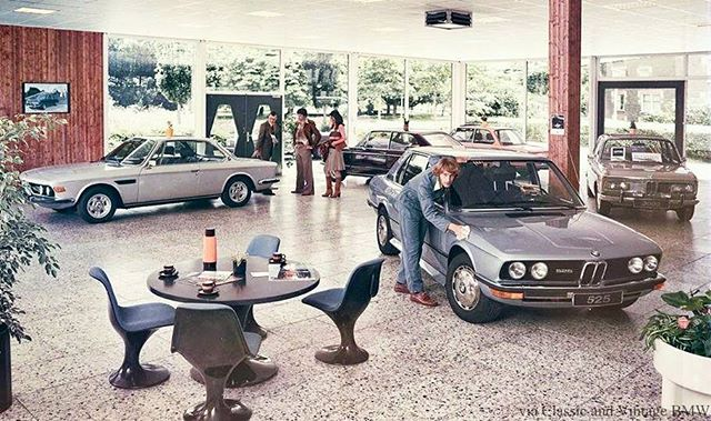 1970s BMW dealership - aka heaven.