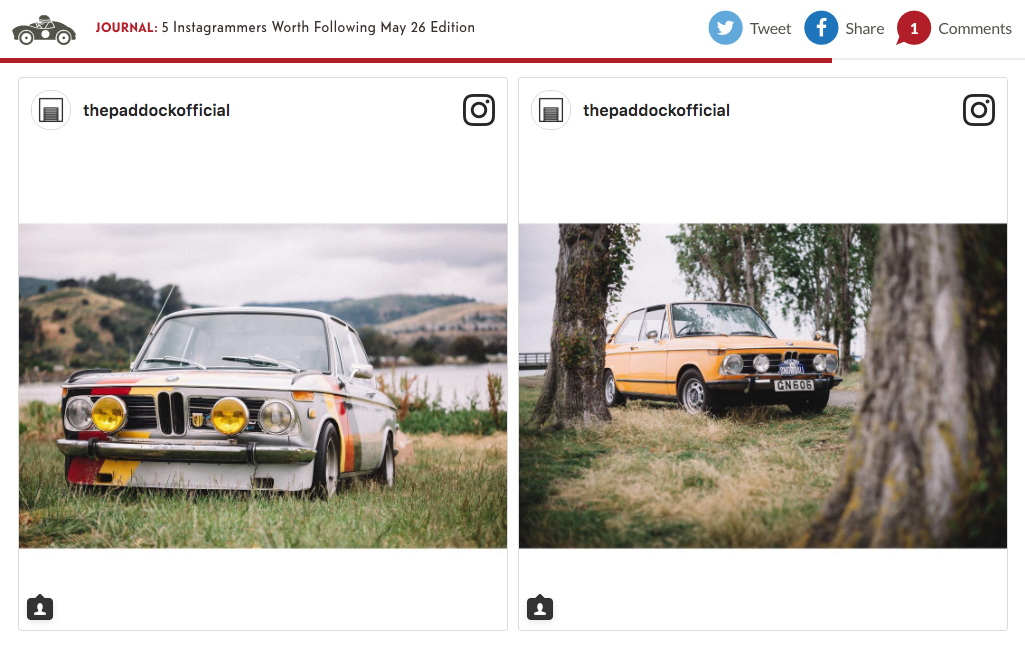 Features on Petrolicious.com - One of their