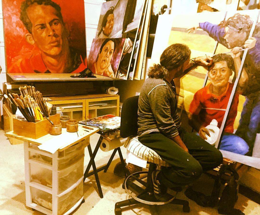 Painting migrant workers on La Bestia