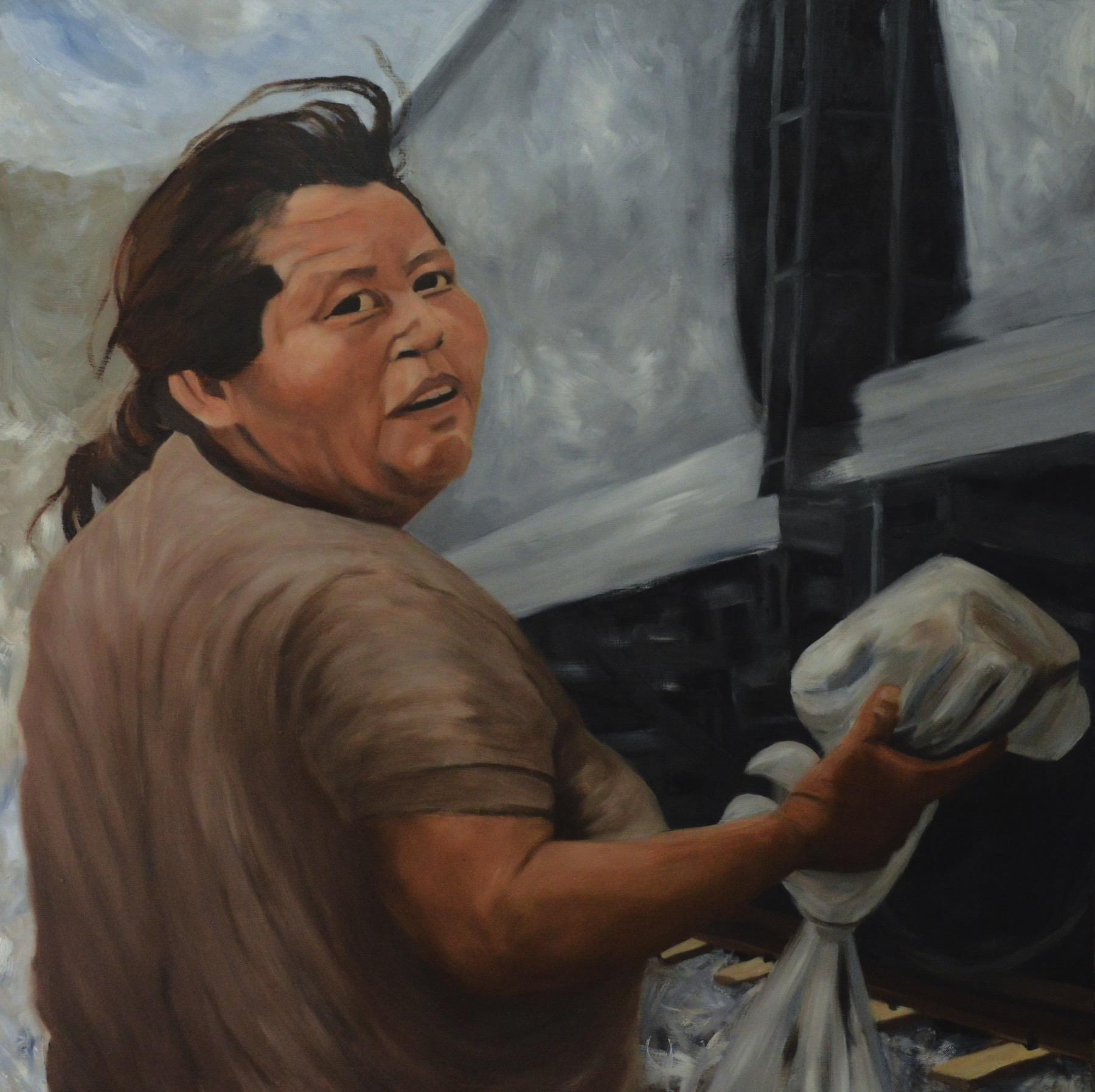 """Norma"" oil on wood panel 130cm x 130cm"