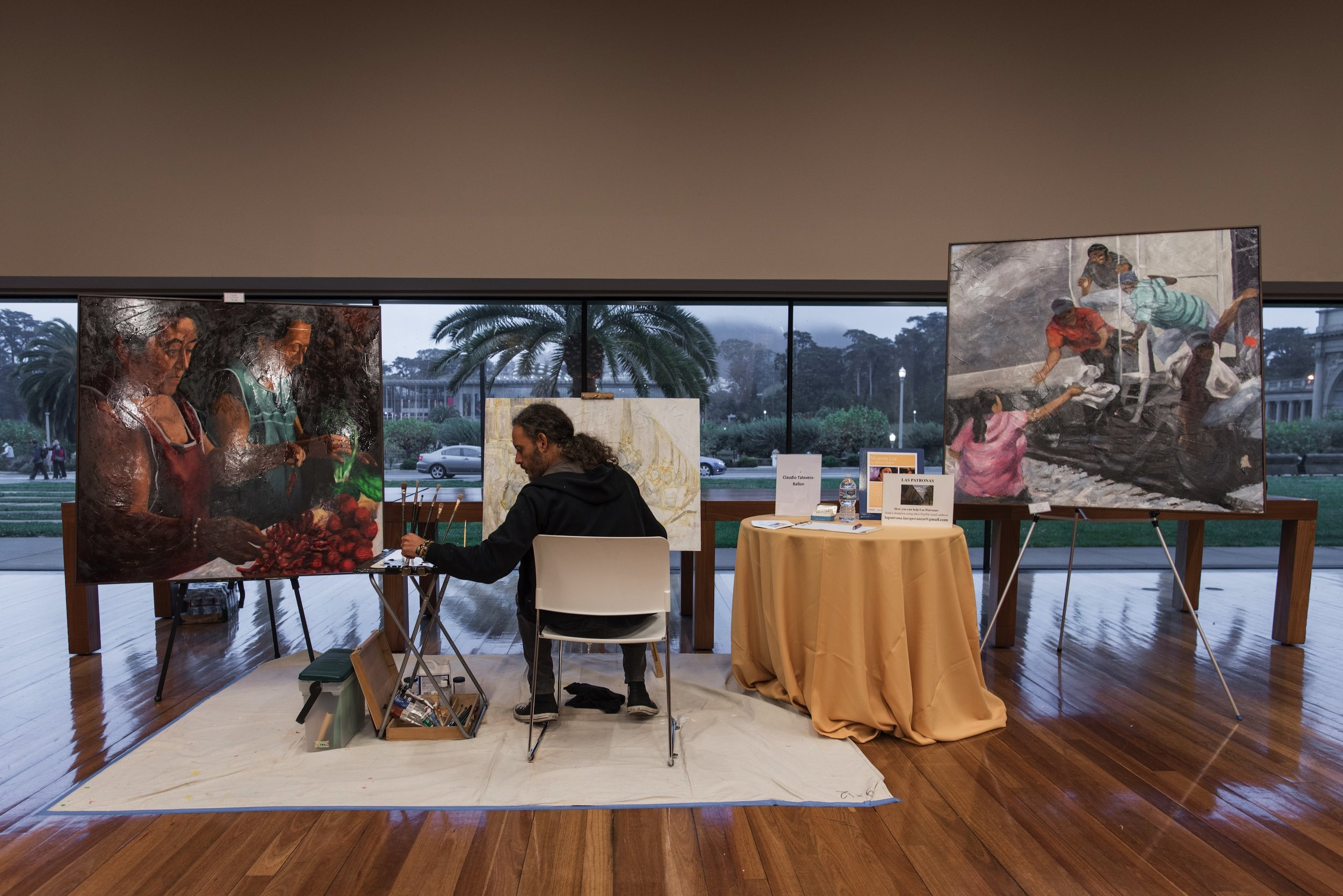 Painting live @ the de Young Museum
