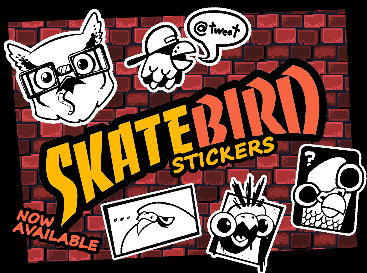 Skatebird Stickers
