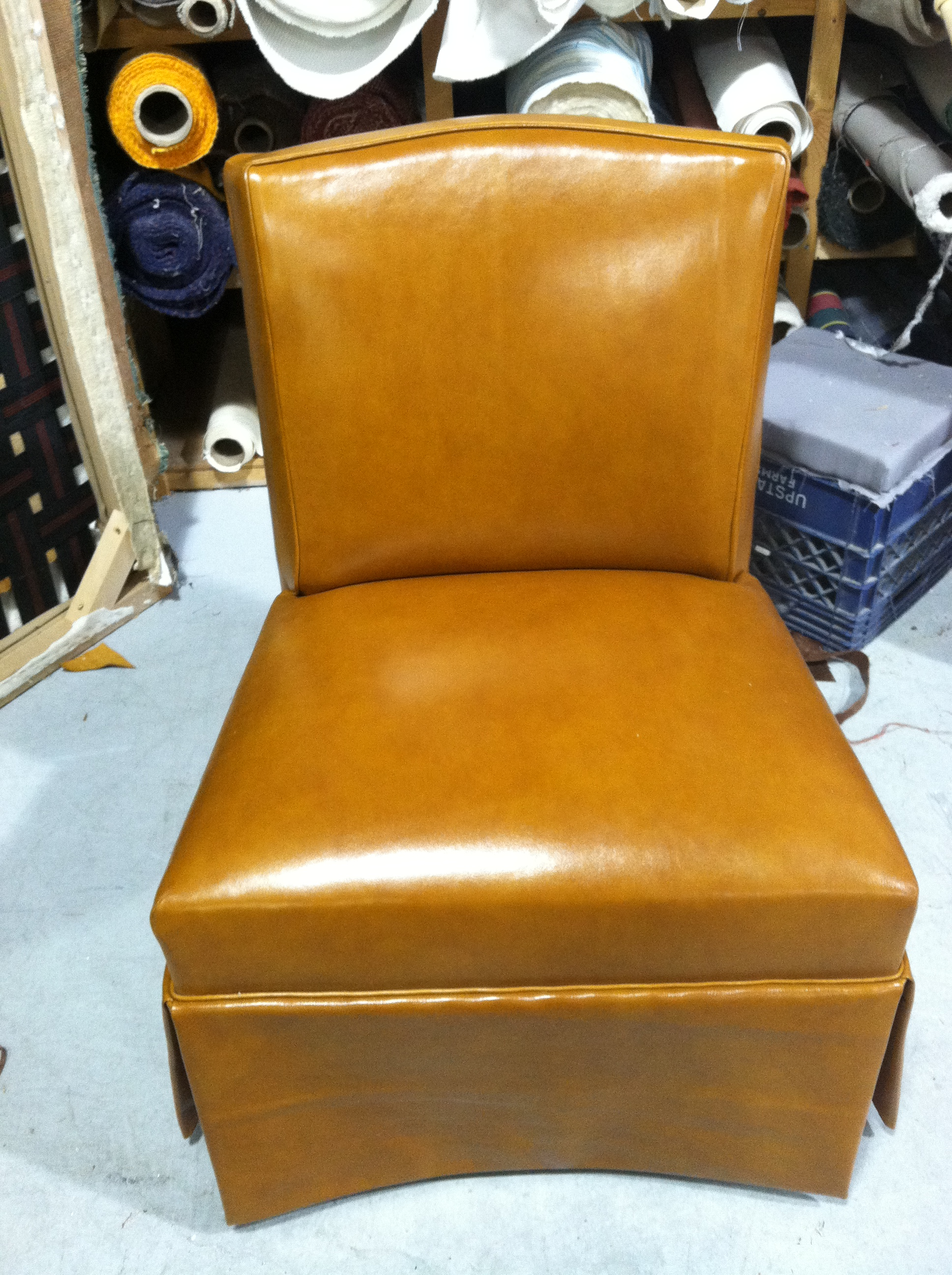 reupholstered leather chair.JPG
