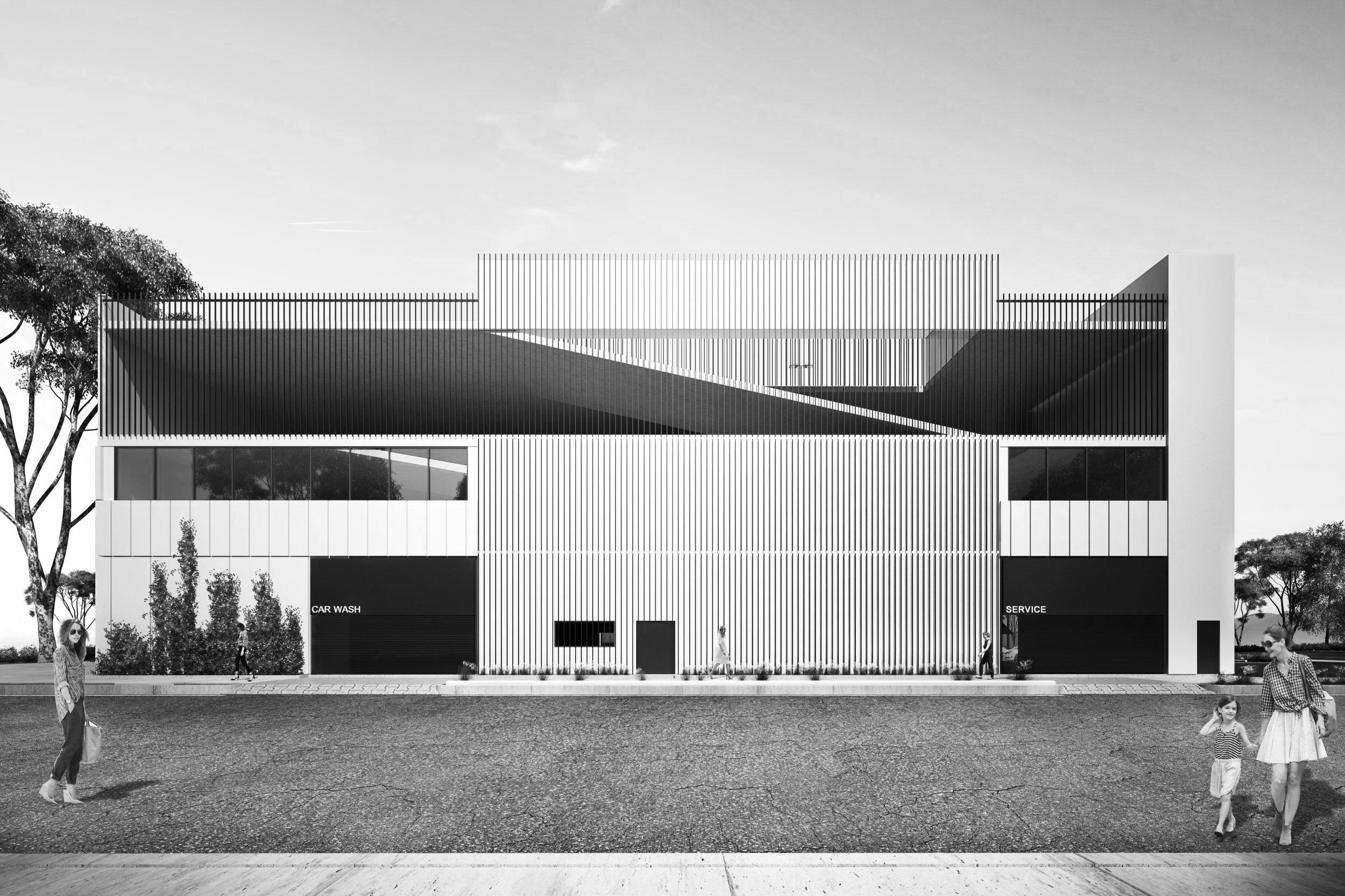Glendale Showroom and Car Storage - Location / Glendale, CaliforniaArchitect / Bill James and Associates ArchitectsSize / c.90,000 SFStatus / In progress