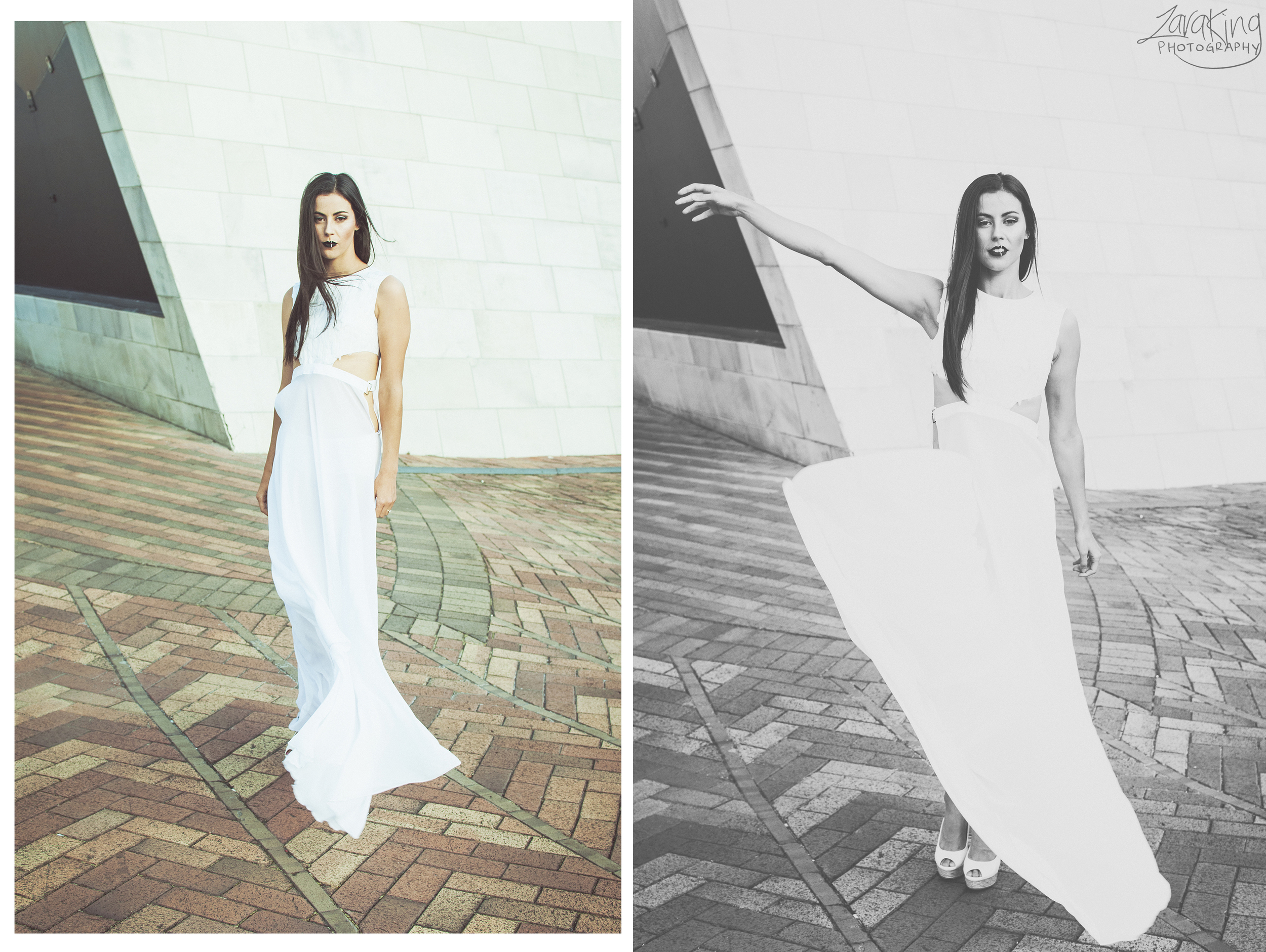 Zara King Photography | Blog entry | fashion campaign editorial photo shoot of Deborah Lambie for Ally Butler Designs