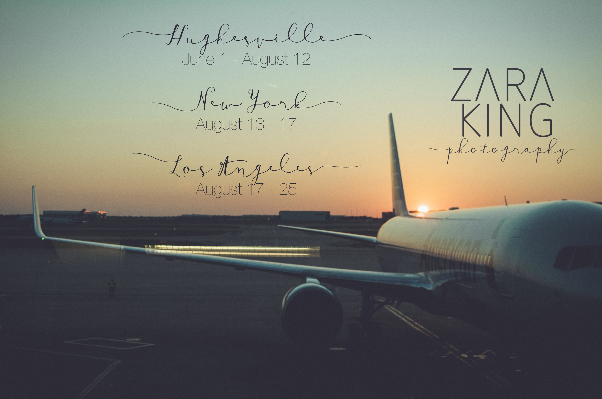 Zara King Photography | Blog entry | Where I'll be in America 2015