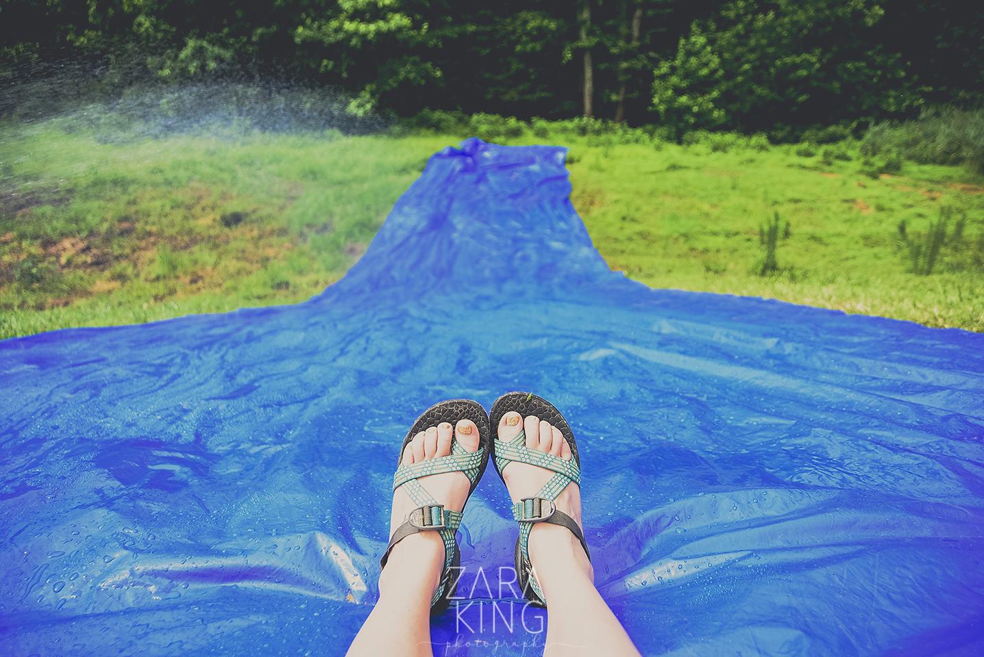 camp winona water slide