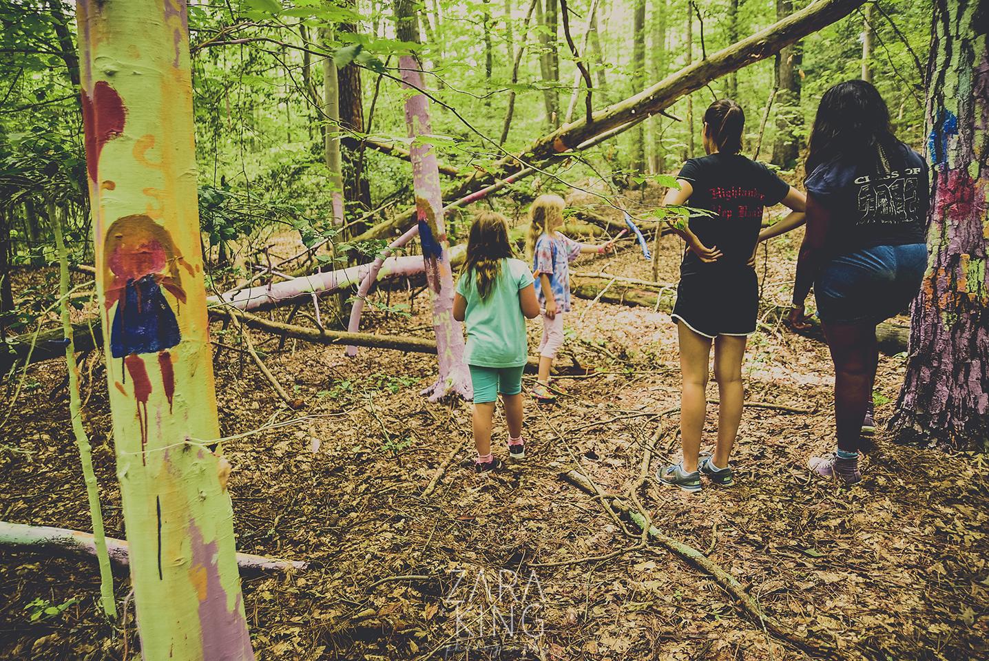 camp winona woodland mural