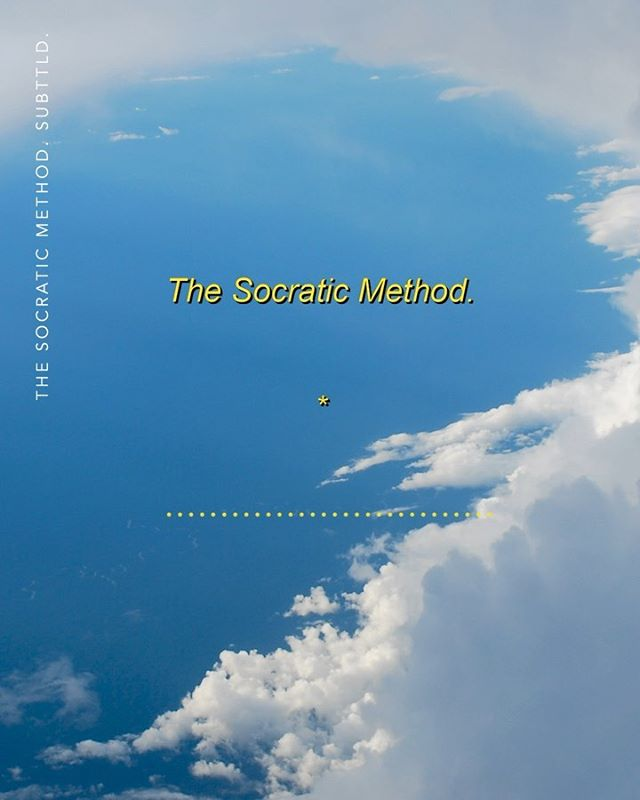 The Socratic Method.  Exploration of a theme brought up in The Death of Socrates in the previous post.  Photo courtesy of an unknown flight I took in 2008.