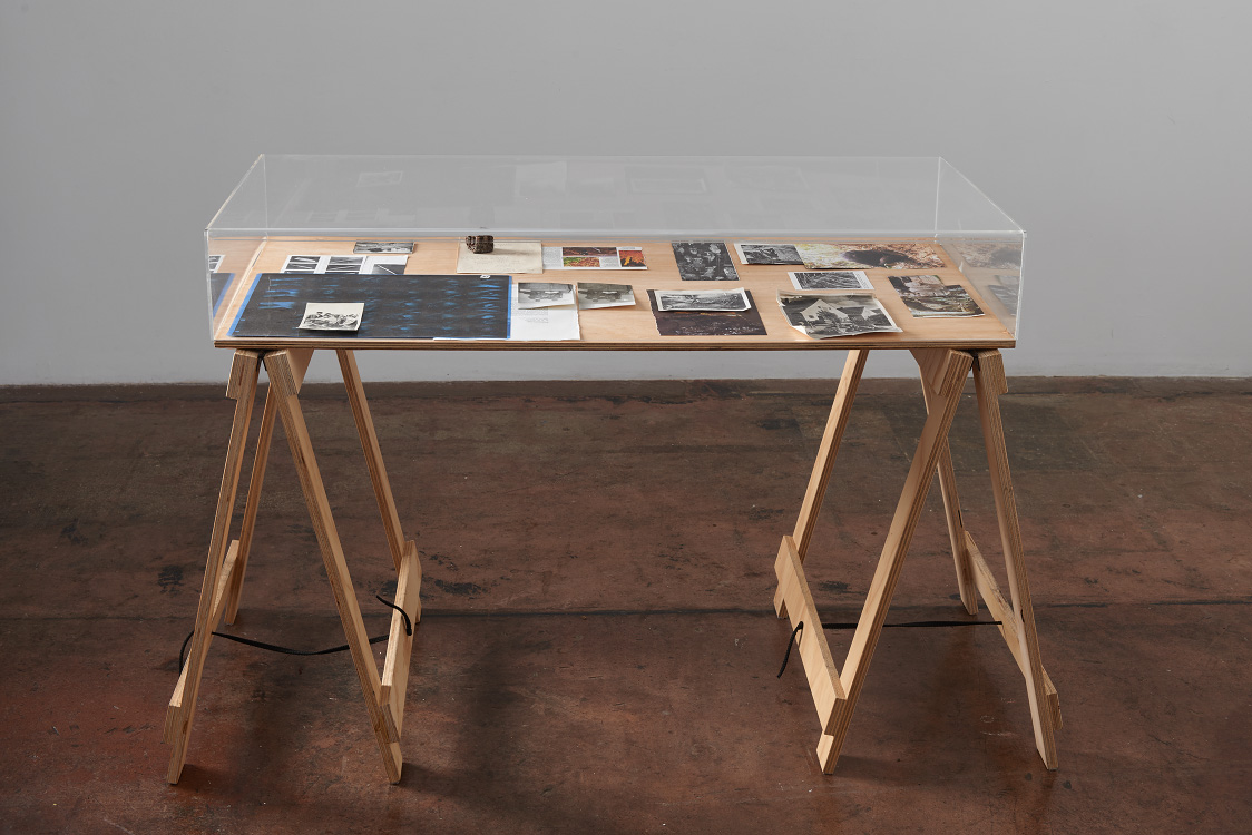 Saskia Doherty, Contents for a Time Capsule III, 2016, vitrine, dimensions variable