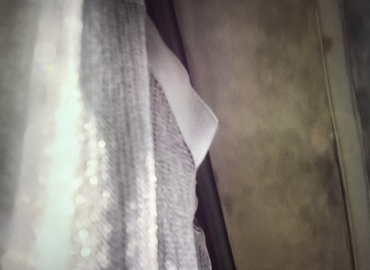 transparency of curtains along a track