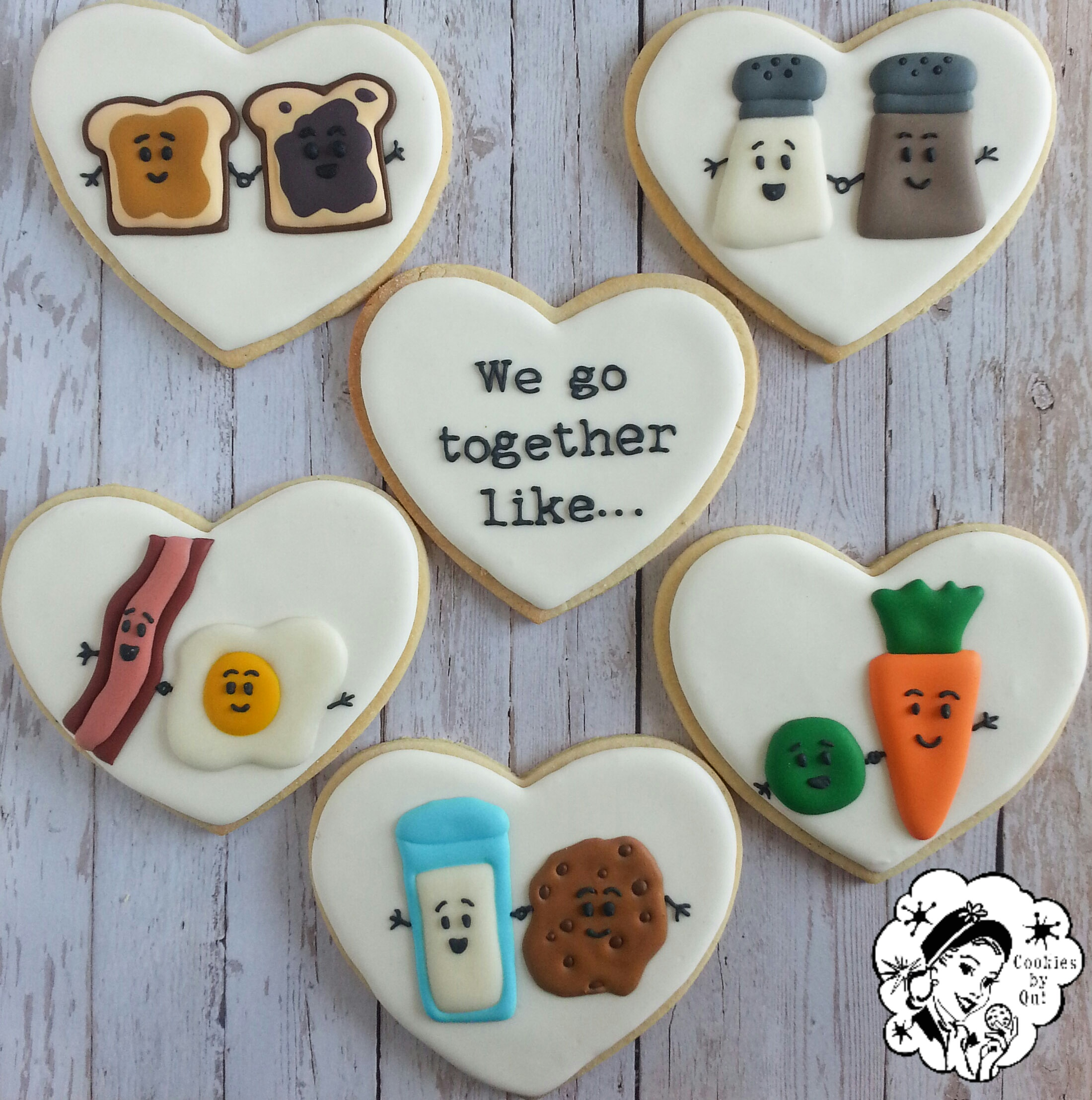 We Go Together Like...Valentine's Day Anniversary Cookies - Cookies by Qui Geelong