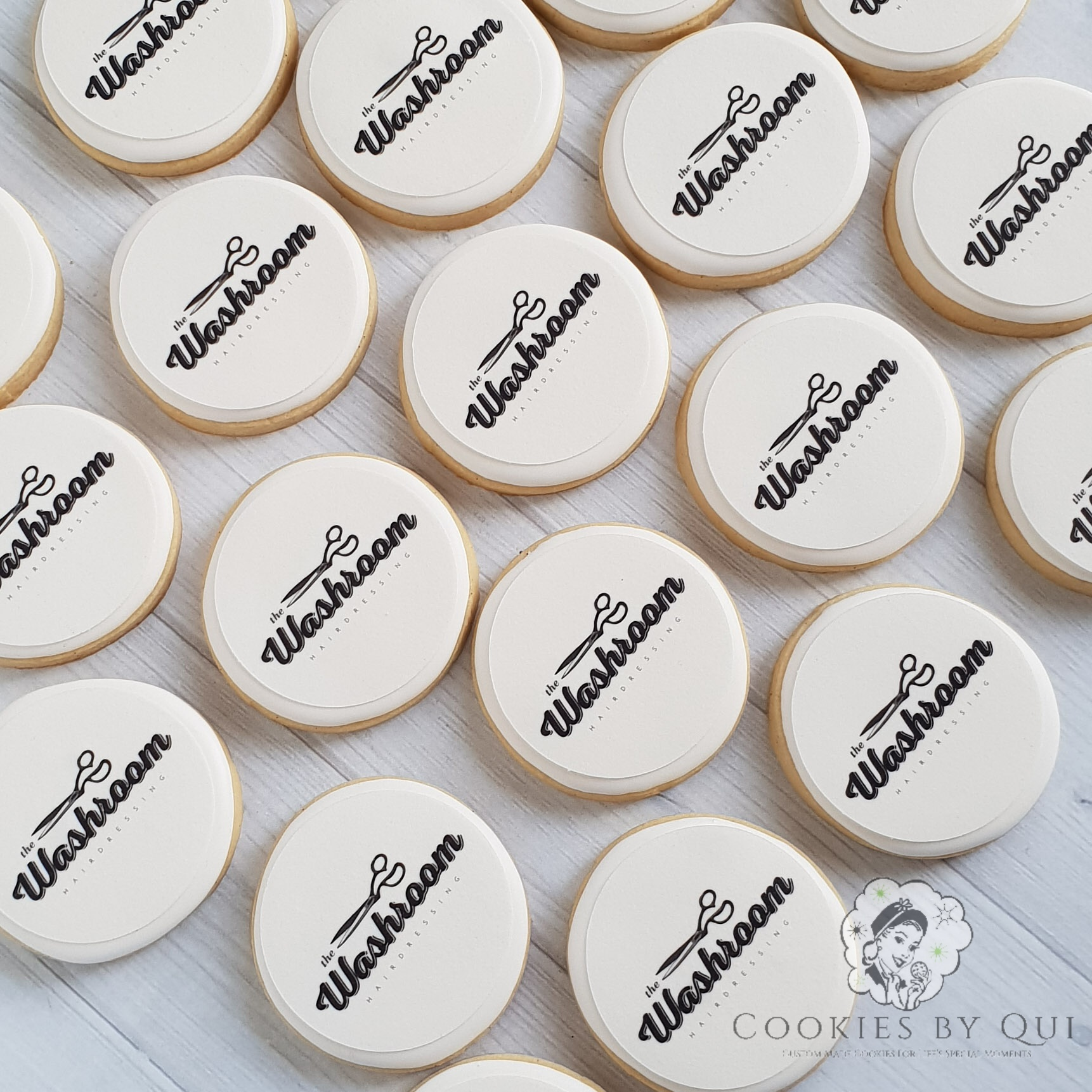The Washroom Edible Image Logo Cookies