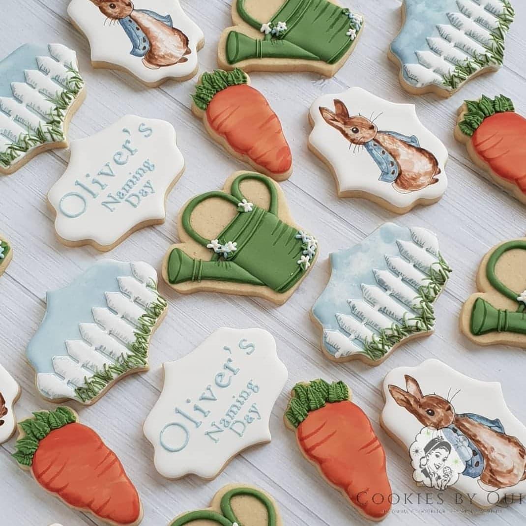 Peter Rabbit Mr. McGregor's Garden Inspired Naming Day Cookies