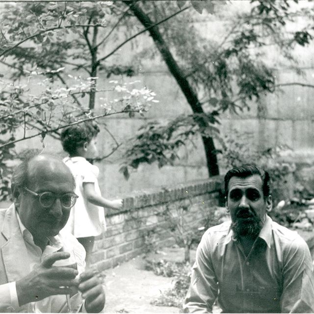 My grandfather William Riva with his friend and neighbor Mark Rothko in their garden on the UES 1960.