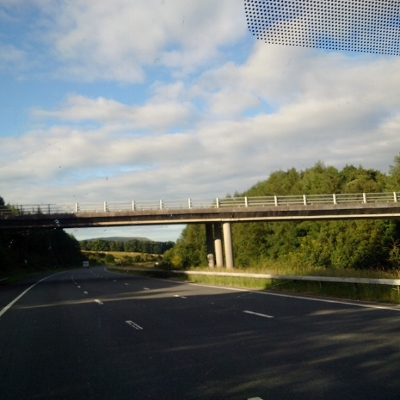 We left early and it was sunshine all the way down the M6