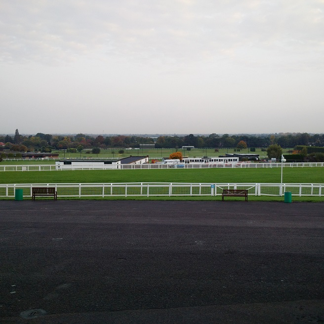 The view of Sandown Park and beyond when we arrived for CRE 2017