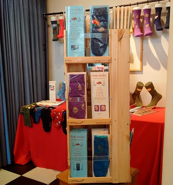 Our display of Holy Socks at Bury St. Edmunds, 2017