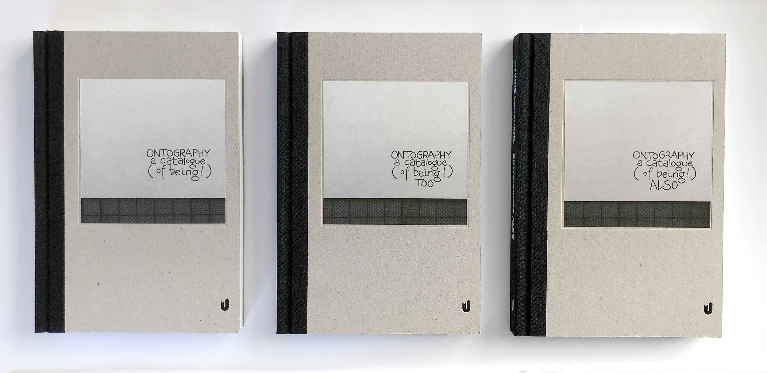 Ontography: eksistensens katalog 1-3, Utenfor Allfarvei Forlag 2019.