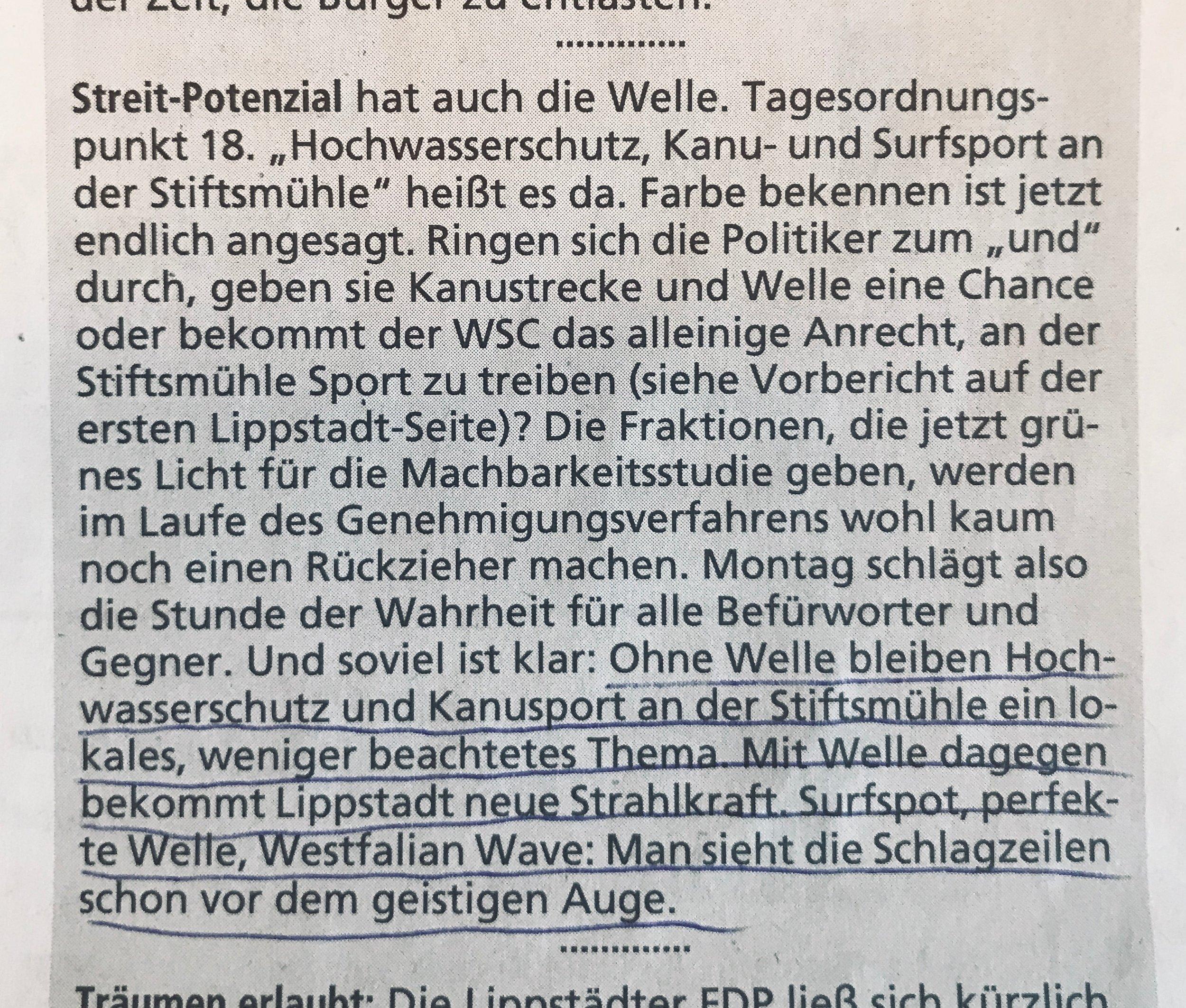Dominik Friedrich in  Zeitungsverlag Der Patriot  / Ausgabe Samstag, 16. Februar 2018