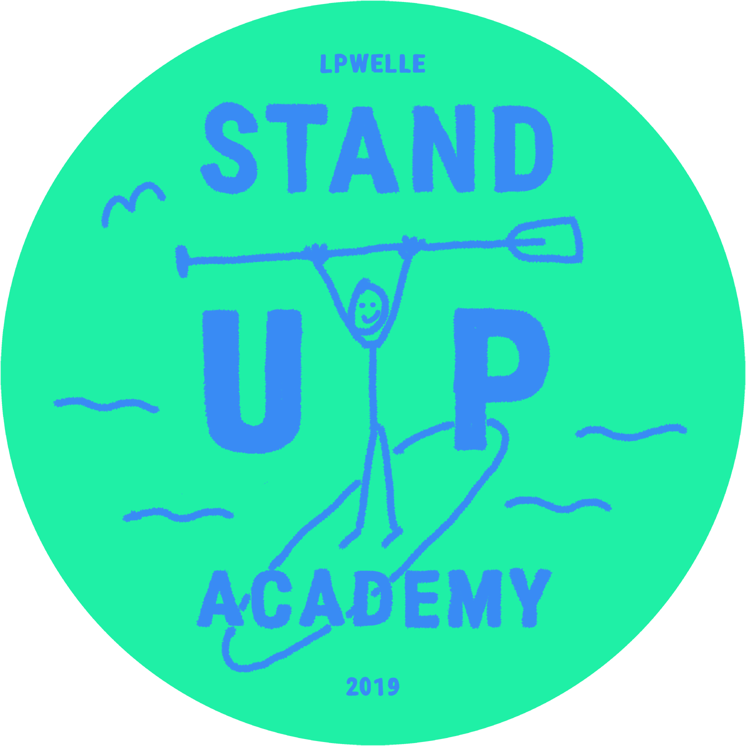 stand up academy logo green png