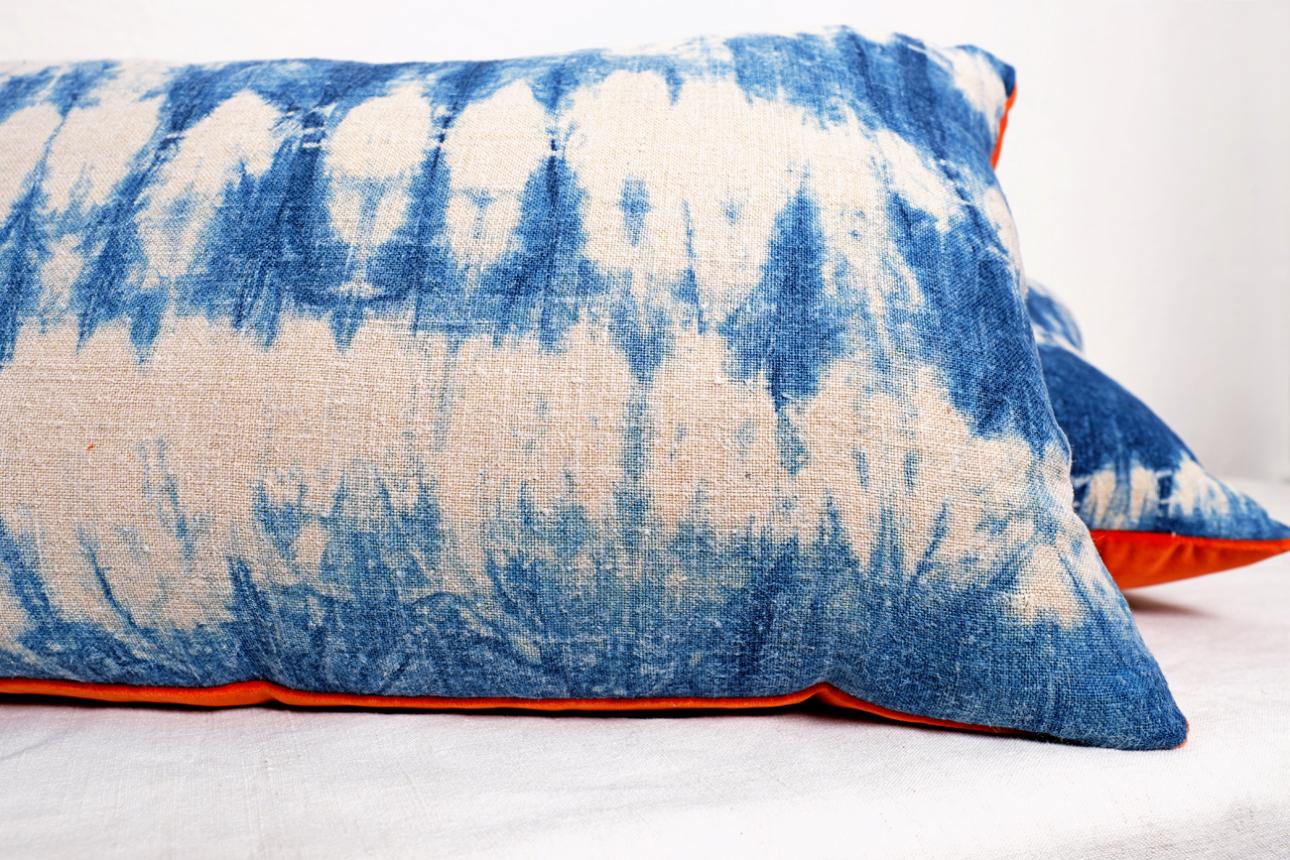 Orange back indigo cushions 006.JPG