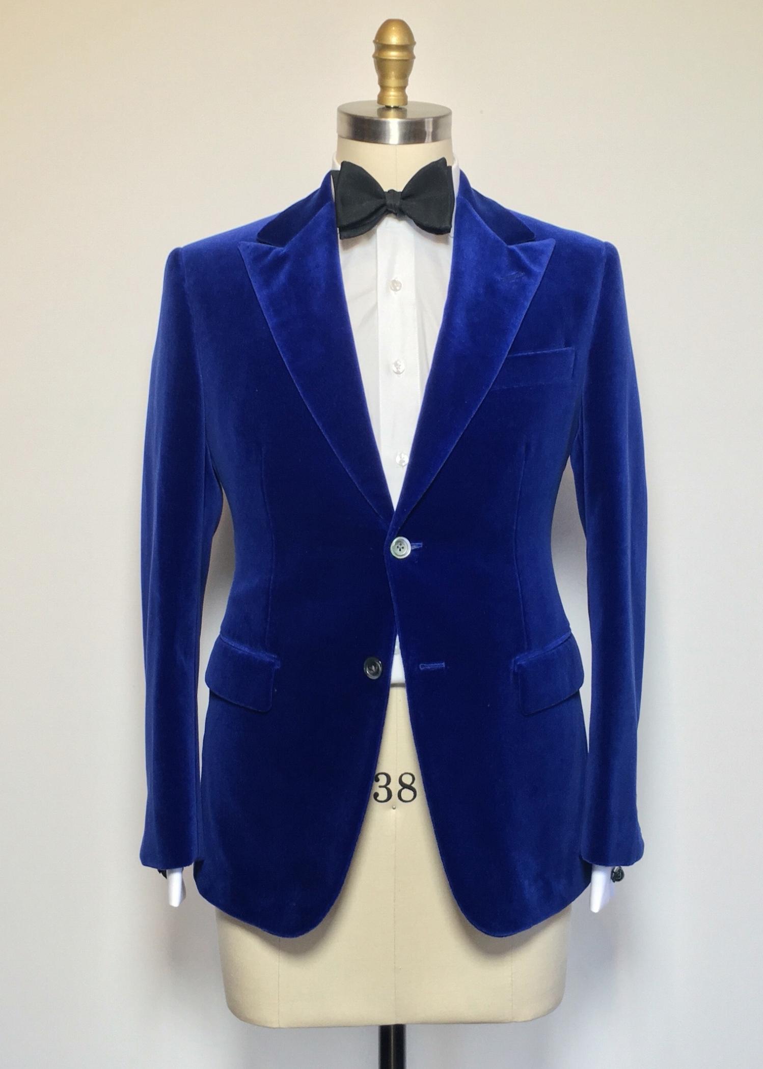 Evening wear blue moleskin jacket.jpg