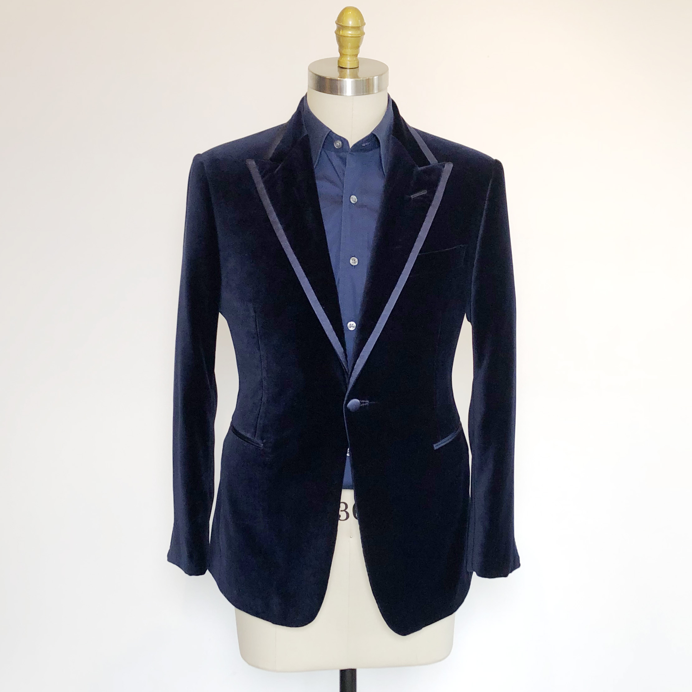 Blue velvet jacket with trim.jpg