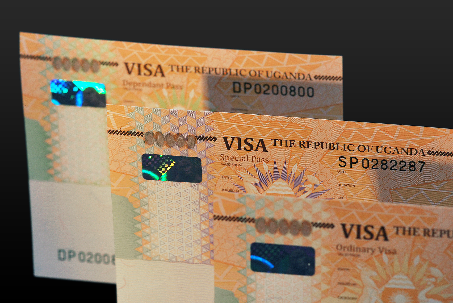 High Security ICAO compliant Visa Labels with Machine Readable information