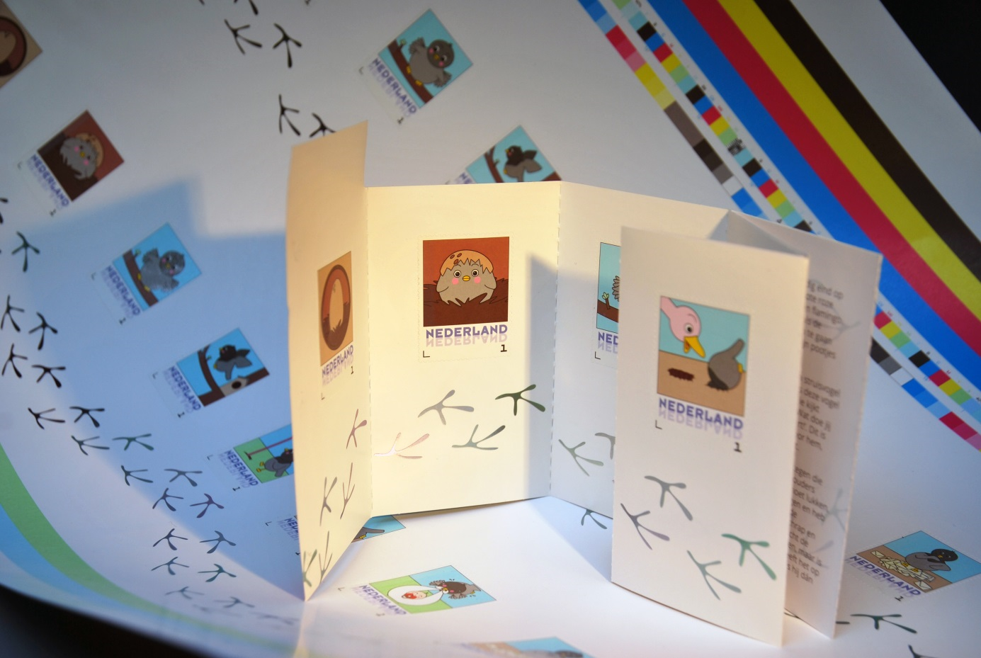 New stamp booklet Carrier pigeon in cooperation with PostNL