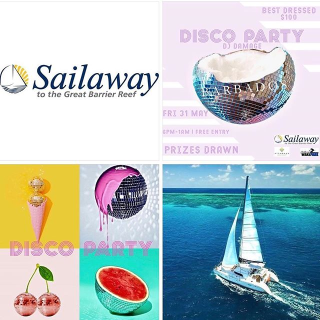 BARBADOS Port Douglas in conjunction with Sailaway Port Douglas are holding a MAY RAFFLE ⛵️🌴🍹 WIN  Prize 1 ~ Sailaway Full Day Mackay & Undine Coral Cays x 2 (value $530) Prize 2 ~ Sailaway Full Day Low Isles x 2 (value $530) Prize 3 ~ Sailaway Sunset Luxury Sailing x 2 (value $130) Prize 4 ~ Niramaya Spa Experience x 1 (value  over $250) Prize 5 ~ Cairns Cable Park Experience x 2 (value $108) Prize 6 ~ Barbados Port Douglas Voucher (value $100)  HOW TO GET YOUR TICKETS ~  Purchase any... . 🍹 Tiki Cocktail = 1 TICKET 🍹 Pinã Colada = 1 TICKET 🍹 Cocktail Jug + Sharing Board = 6 TICKETS  PRIZES DRAWN 10PM | DISCO PARTY | FRI 31 MAY | FREE ENTRY  Check ~ FB, IG & our website for further details *Must be onsite on the night to claim your prize  Sponsors ~ Sailaway Port Douglas |  Niramaya Day Spa | Cairns Wake Park ————————————————————— Disco images 📸 via Pinterest with original source unknown ————————————————————— #barbadosportdouglas #raffle #party #martiniqueislandstyle #portdouglas #cocktailbar #marina #paradise #luxury #style #interiordesign #bar #restaurant #alcohol #food #wine #cocktails #champagne #travel #instatravel #barbadosstyle #crystalbrooksuperyachtmarina #greatbarrierreef #daintreenationalpark #discoverfnq #thisisqueensland #queensland #exploreaustralia #australia #home