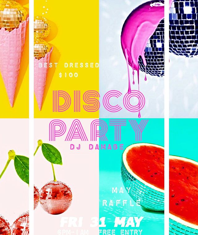 D I S C O  P A R T Y 🕺 the count down is on!! MAY RAFFLE | FRI 31 MAY | 6pm - 1am | 6pm: Open to the public ~ free entry | 8pm: Dj ~ till late | 9.30pm: Best Dressed | 10pm: Raffle Draw | Special Food & Drinks Menu all night | Any purchase = 1 Raffle Ticket (gets you into the draw at 10pm) | 1am: Close.  WIN ⛵️Prize 1 ~ Sailaway Port Douglas & Undine Coral Cays x 2 (value $530) ⛵️Prize 2 ~ Sailaway Full Day Low Isles x 2 (value $530) ⛵️Prize 3 ~ Sailaway Sunset Luxury Sailing x 2 (value $130) 🙋🏼‍♀️Prize 4 ~ Niramaya Day Spa Experience x 1 (value over $250) 🏄🏻‍♂️Prize 5 ~ Cairns Wake Park 2hrs x 2 (value $108) 🍹Prize 6 ~ BARBADOS Port Douglas Voucher (value $100)  HOW TO GET YOUR TICKETS (May only) Purchase any… 🍹Tiki Cocktail = 1 TICKET 🍹Pinã Colada = 1 TICKET 🍹Cocktail Jug + Sharing Board = 6 TICKETS ————————————————————— 📍Must be onsite on the night to claim your prize ————————————————————— 📍Check - FB, IG & our website for further details ————————————————————— 📍Under 18's attending before 9pm are allowed stay in the venue, however after 9pm no Under 18's are allowed in the venue ————————————————————— 📍Daybed reservation ~ minimum spend only (available on the night)  MAJOR SPONSOR ~ @sailawayportdouglas  Sponsors ~ @niramayaspa | @cairnswakepark