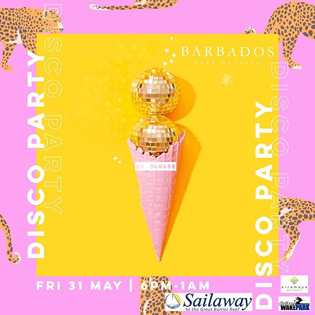 D I S C O  P A R T Y 🕺 TONIGHT - FRI 31 MAY '19 ☮️ 6PM DOORS OPEN 🔮 DJ POSTIE 🎆 PARTY | DANCE | EAT | DRINK | WIN 🦄 PRIZES - @sailawayportdouglas  @niramayaspa  @cairnswakepark ————————————————————— #barbadosportdouglas #discoparty #martiniqueislandstyle #portdouglas #cocktailbar #marina #paradise #luxury #style #interiordesign #bar #restaurant #alcohol #food #wine #cocktails #champagne #travel #instatravel #barbadosstyle #crystalbrooksuperyachtmarina #greatbarrierreef #daintreenationalpark #discoverfnq #thisisqueensland #queensland #exploreaustralia #australia #home