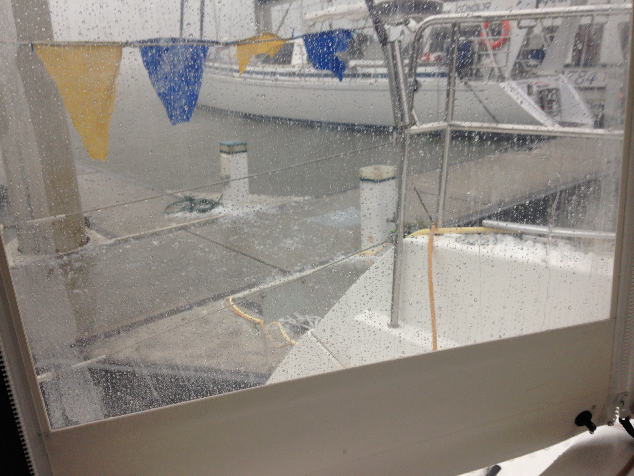 hail on dock.JPG